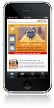 ASPCA PetWeather Mobile App